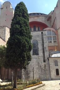In the rear of Hagia Sophia