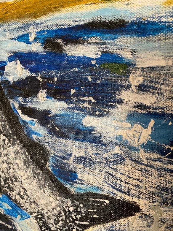 Surprise by Kris 60 x 75 cm acrylic on canvas with medium; $800 AUD